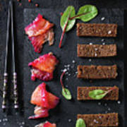Salted Salmon With Beetroot  Poster