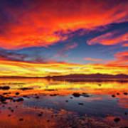 Salton Sea Sunset Poster