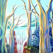 Saltwater Falls 2 Poster by Barbara Stirrup