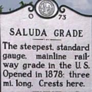 Saluda Grade Poster