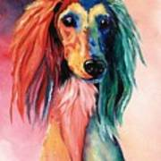 Saluki Sunset Poster