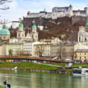 Salzburg City And Fortress  Poster