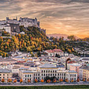 Salzburg In Fall Colors Poster