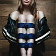 Samantha Bentley / Badbentley, Tied Legs - Fine Art Of Bondage Poster by Rod Meier