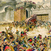 Samaria Falling To The Assyrians Poster