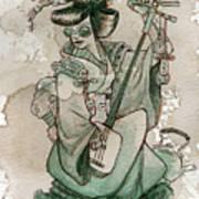 Samisen Poster by Brian Kesinger