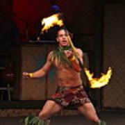 Samoan Fire Dance Poster
