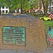 Samuel Adams Gravestone At Granary Burying Ground In  Boston-massachusetts Poster
