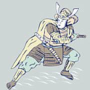 Samurai Warrior Poster by Aloysius Patrimonio