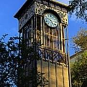 San Antonio Clock Poster