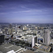 San Antonio Texas Skyline Poster