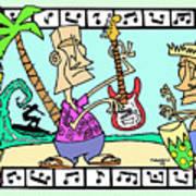 San Clemente Ocean Festival Tiki Poster