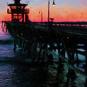 San Clemente Pier Sunset Poster