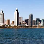 San Diego Panorama Poster by Paul Velgos