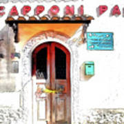 San Felice Circeo Door Of The School Poster