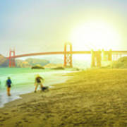 San Francisco Baker Beach Poster