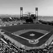 San Francisco Ballpark Bw Poster