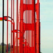 San Francisco Golden Gate Bridge Symphony In California Poster