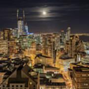 San Francisco Moon Poster