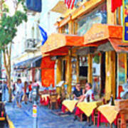 San Francisco North Beach Outdoor Dining Poster by Wingsdomain Art and Photography