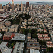 San Francisco Skyline And Coit Towersan Francisco Skyline And Coit Tower Poster