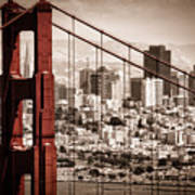 San Francisco Through The Bridge Poster by Matt  Trimble