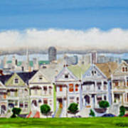 San Francisco's Painted Ladies Poster by Mike Robles
