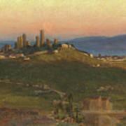 San Gimignano, 1898 Poster