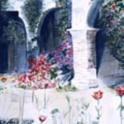 San Juan Capistrano In The Courtyard Poster