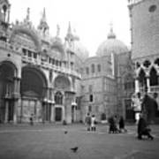 San Marco Piazza And Basilica In Venice Poster