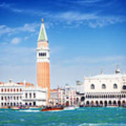 San Marco Square Waterfront Poster