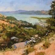 San Rafael Bay From Via La Cumbre, Greenbrae, Ca Poster