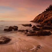 Sand Beach At Sunrise Poster