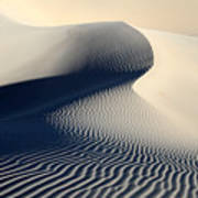 Sand Dunes Patterns In Death Valley Poster