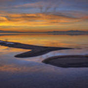 Sandbar Sunset Poster