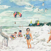 Sandcastles On Siesta Key Public Beach Poster