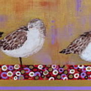 Sandpipers On The Emerald Coast Poster