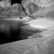 Sandstone Shoreline And Cliffs Lake Powell Poster
