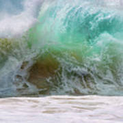 Sandy Beach Surf Poster