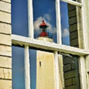 Sandy Hook Lighthouse Reflection Poster