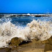 Sandy Surf Splash Poster
