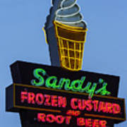 Sandys Frozen Custard - Austin Poster