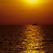 Sanibel Shrimp Boat At Sunset Poster