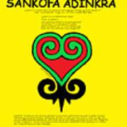 Sankofa Adinkra Poster