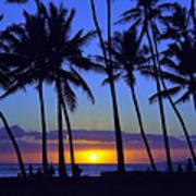 Sans Souci Sunset Waikiki Poster