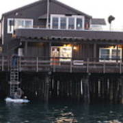 Santa Barbara Pier At Dusk Poster