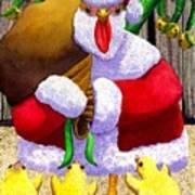 Santa Chicken Poster