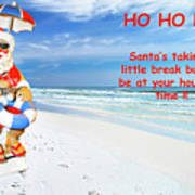 Santa Christmas Greeting Card Poster