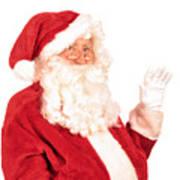 Santa Claus Waving Hand Poster