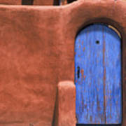 Santa Fe Gate No. 3 - Rustic Adobe Antique Door Home Country Southwest Poster
